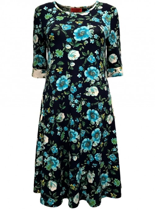 Dot & Doodle's Dress Bazinga Prima Navy