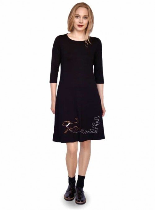 Dress Bazinga Dogella Black
