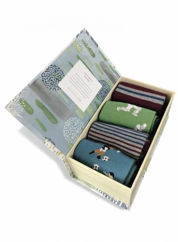 Bamboo Socks 4 pack Giftbox Sportsman