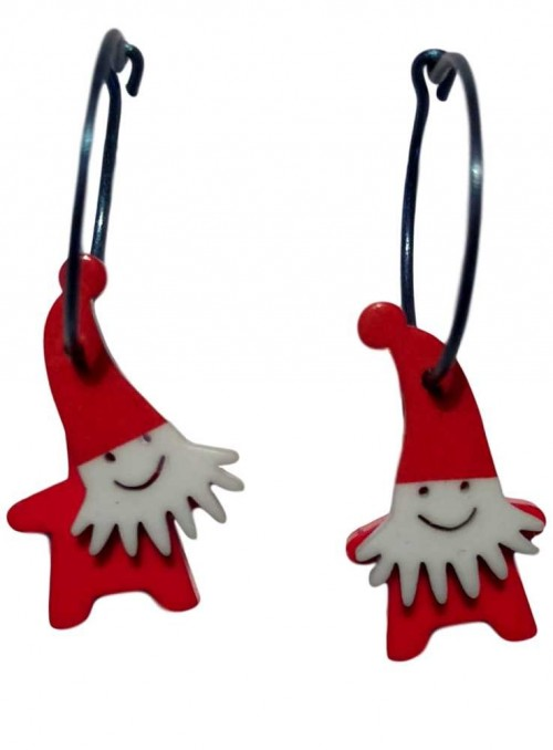 Earrings Santa