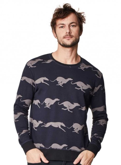 Sweat-shirt Whippet Greyhound organic cotton from Thought