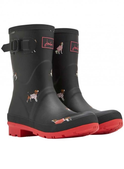 Wellies mid-hight MollyWelly Black Jumper Dogs from Joules