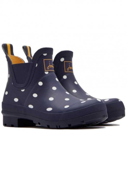 Wellies Wellibob Navy Spot from Joules