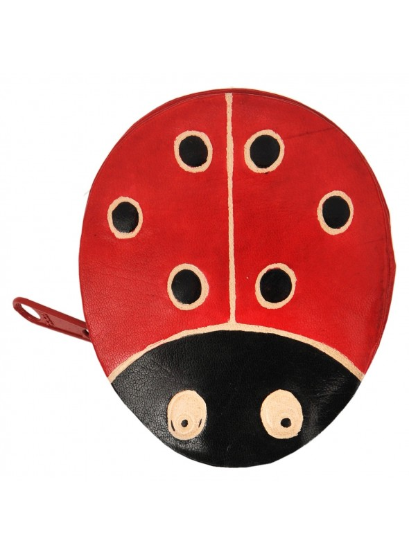 Leather wallet for coins Ladybird