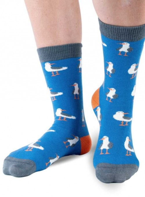 Bamboo Junior Socks Seagull Doris & Dude