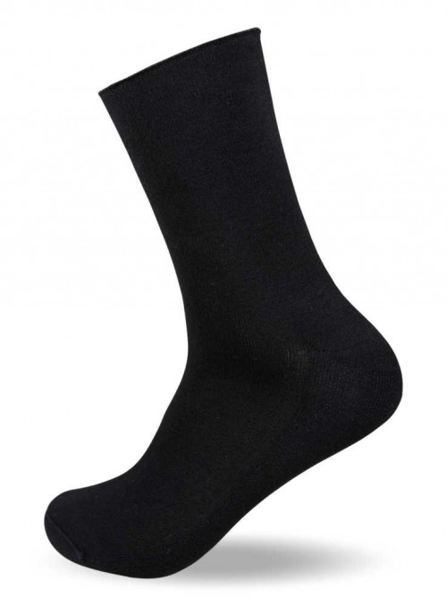 Bamboo Diabetes Socks Black
