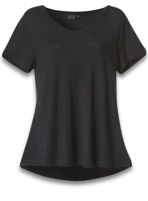 Bamboo womens T-shirt V-neck Black