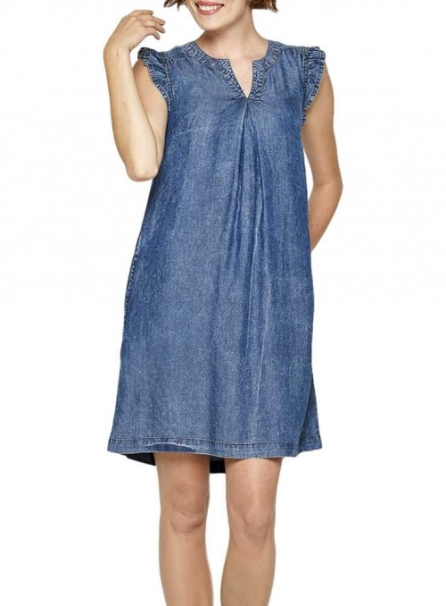 Tencel Dress Salvia from Tranquillo
