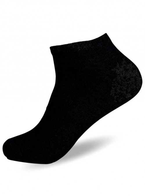 Bamboo Ankle Socks Black sneaker-socks