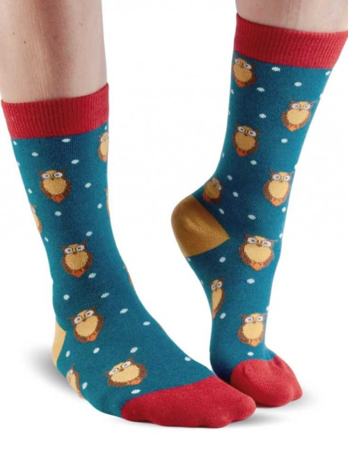 Bamboo Socks Owls from Doris & Dude