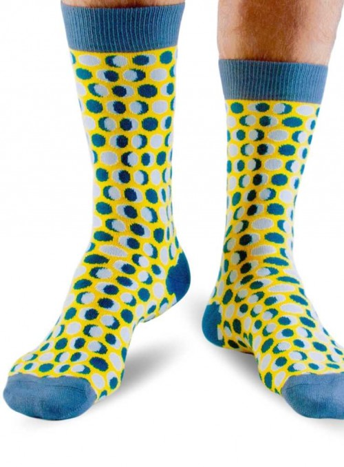 Bamboo Socks Yellow Dots from Doris & Dude