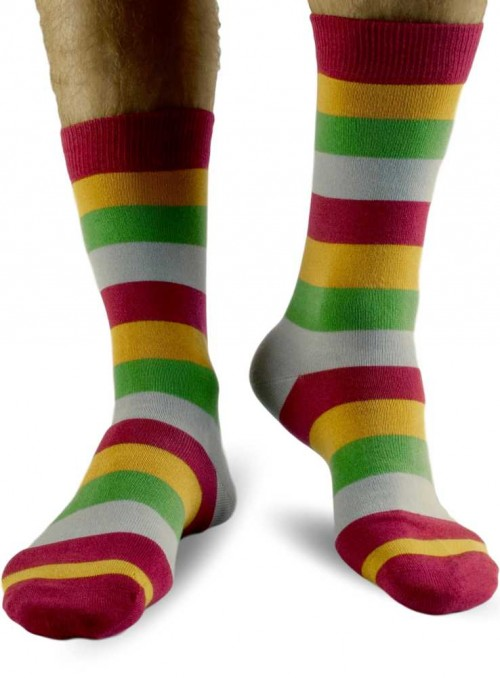 Bamboo Socks Wide Stripe from Doris & Dude