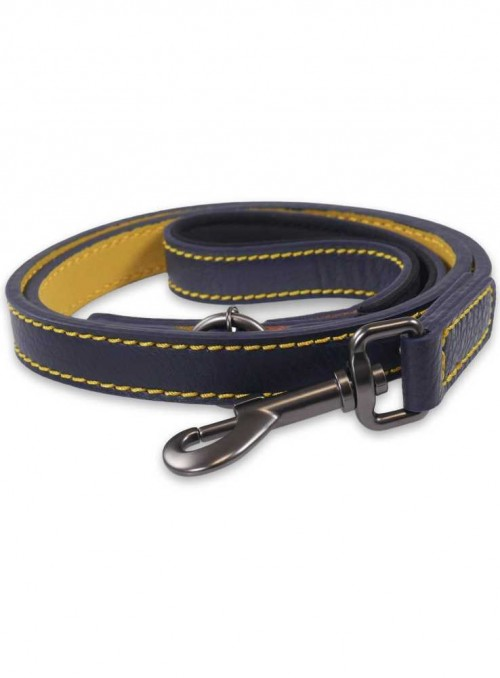 Dog Lead Navy Leather from Joules