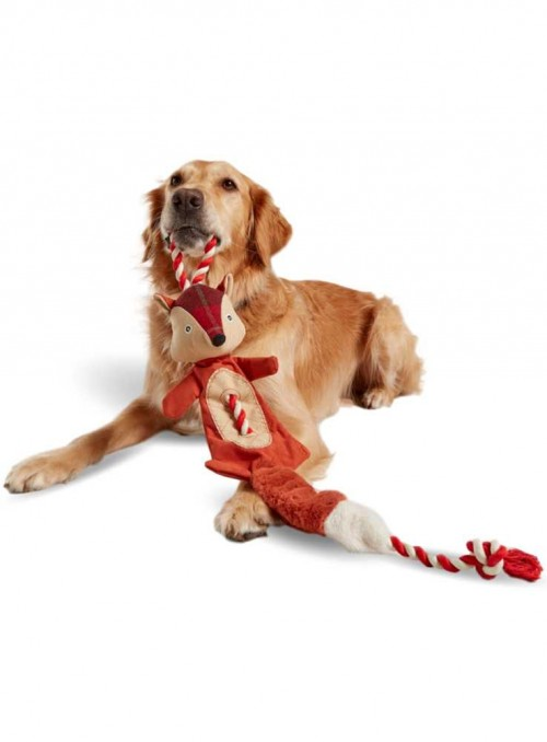 Dog Toy Rope Tweed Fox from Joules