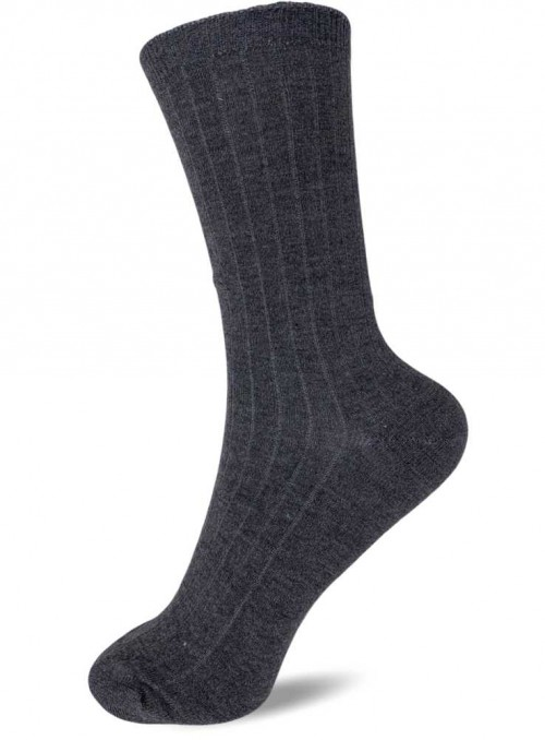 Bamboo rib Socks Charcoal from Festival