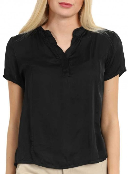 Silk Blouse black from Copenhagen Luxe