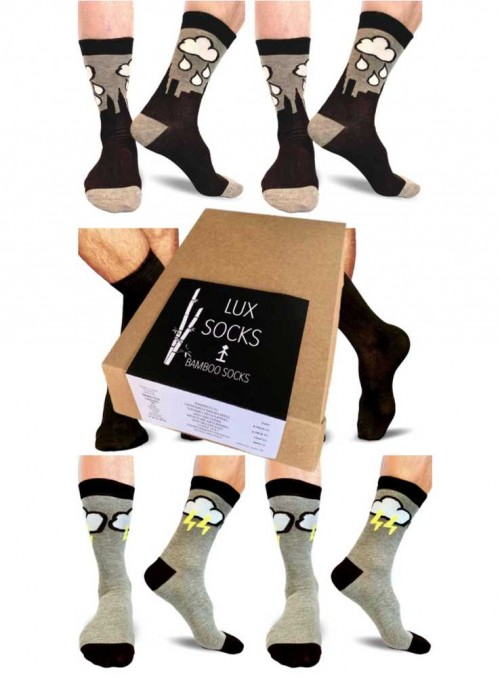 6 pack Bamboo Socks mens Gift Box New York