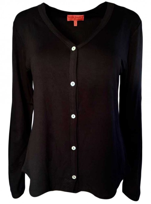 Jersey cardigan Cardi All Black