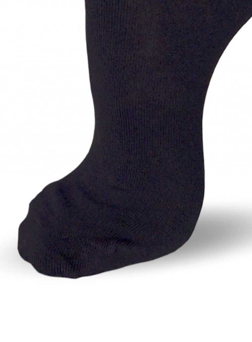 Bamboo Socks Black Hand linked Toe 36-41