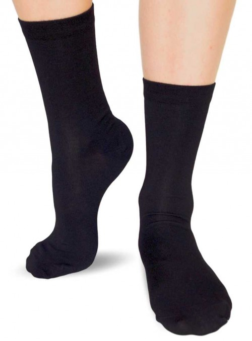 6 pack Bamboo womens Socks Gift Box All Black