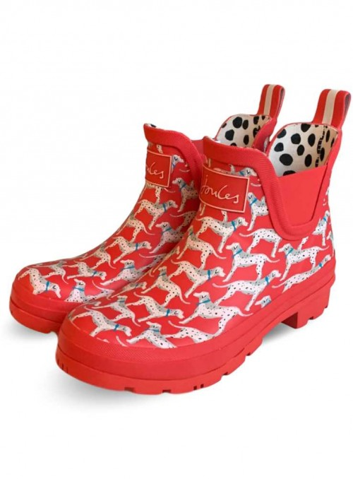 Wellibob Red Dog short wellies from Joules