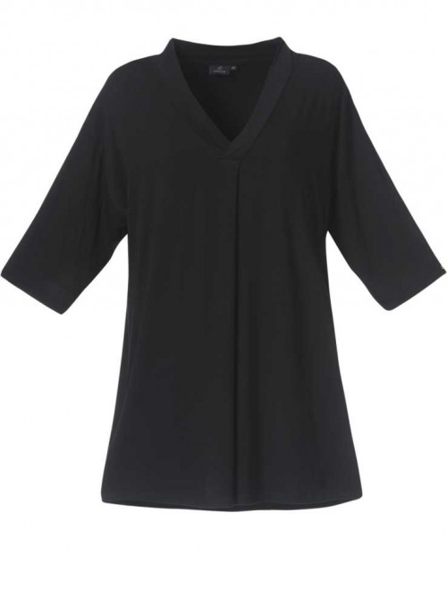 Bamboo tunic with 3/4 sleeves
