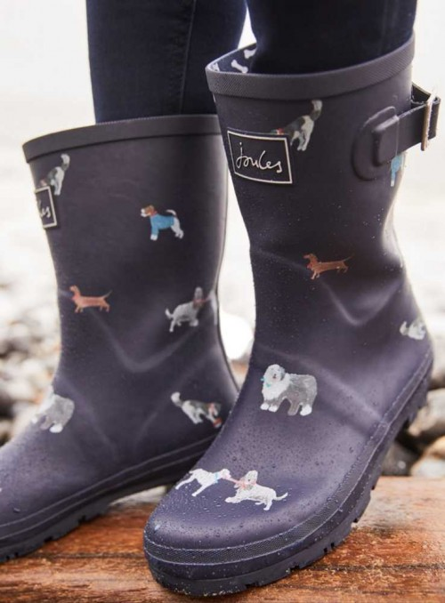 Mid Height Printed Welly MollyWelly MaydayDogs from Joules