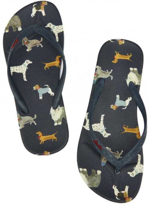 Flip Flops with dogs from Joules