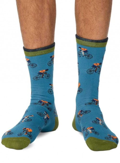 Bamboo socks Blue Bike