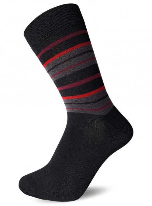 Bamboo Socks Black Stripe