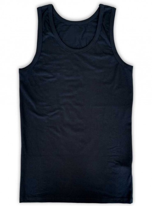 Bamboo tank top mens, black