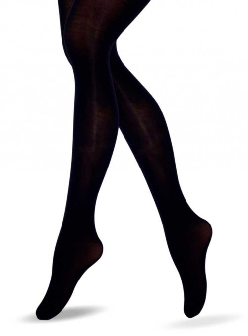 Lucy Legs Black 3D Microfiber Tights