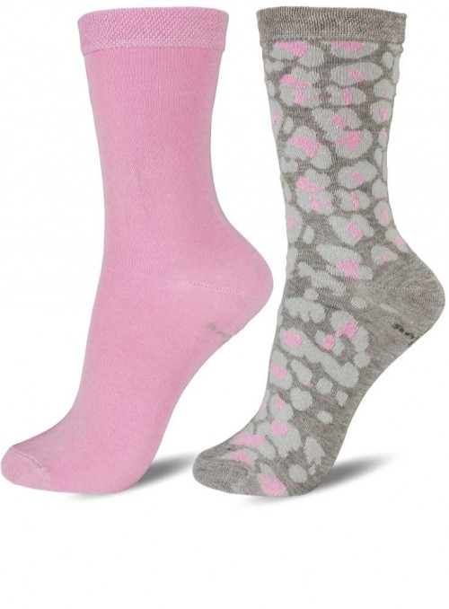 2 pack kids bamboo socks pink, size 27/30 and 31/34