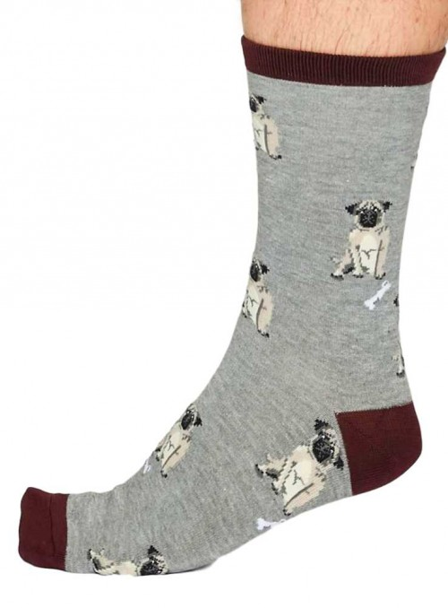 Bamboo socks Lyman, grey, from Thought