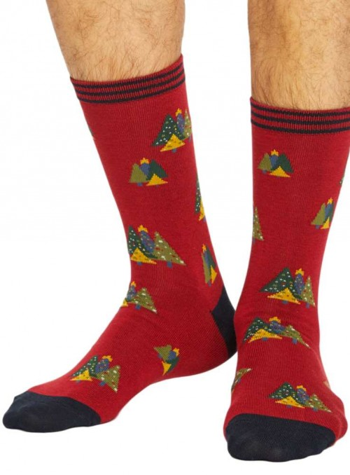 Bamboo socks with Xmas Trees, from Thought