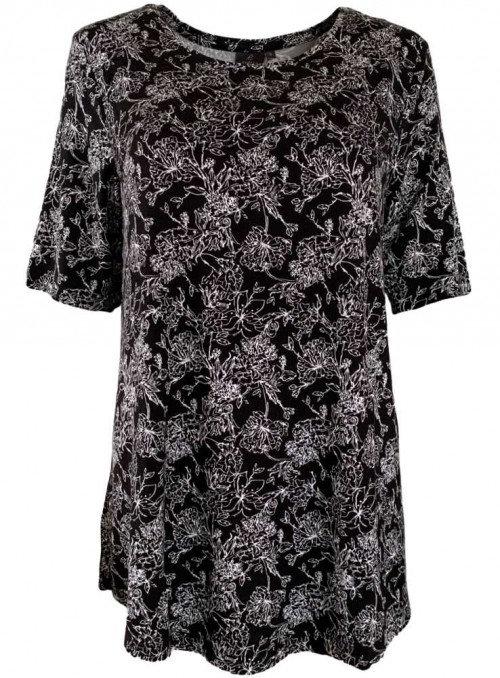 Bamboo Top loose fit with print