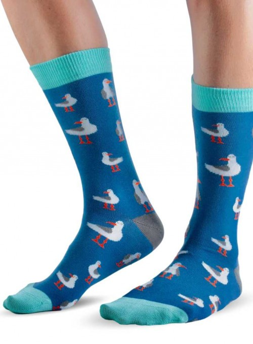 Bamboo Socks size 27-36 Blue Seagull from Doris & Dude