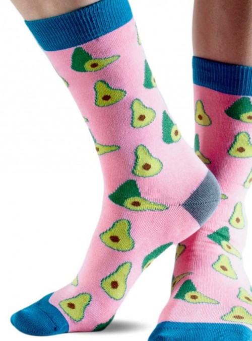 Bamboo Socks with organic cotton womens Pink Avocado from Doris & Dude