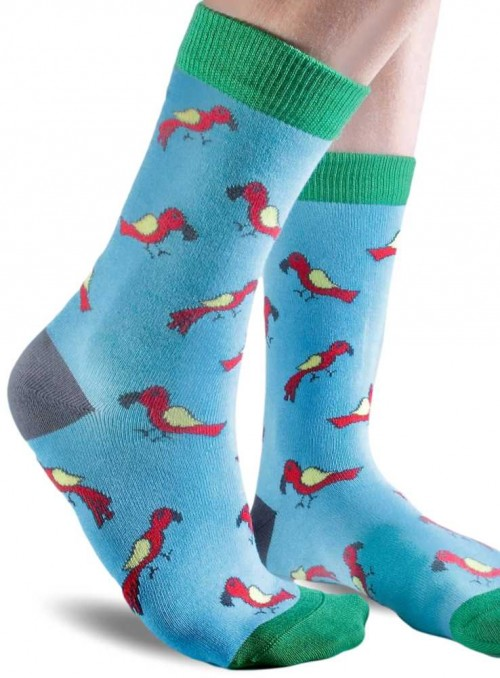 Bamboo Socks with organic cotton womens Blue Parrot from Doris & Dude