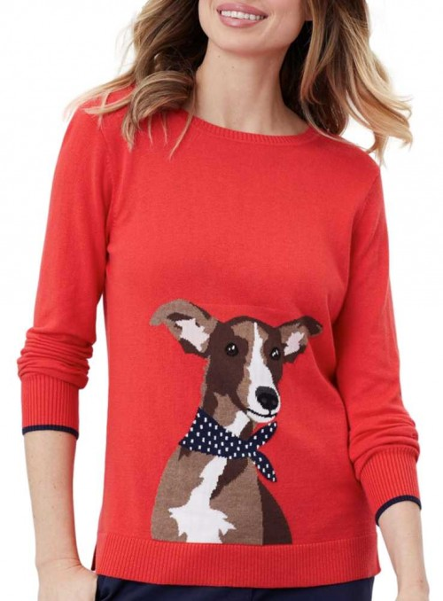Knitted sweater Miranda with whippet from Joules