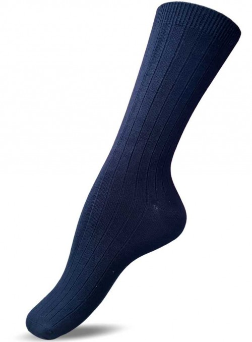 Bamboo rib Socks Navy from Festival
