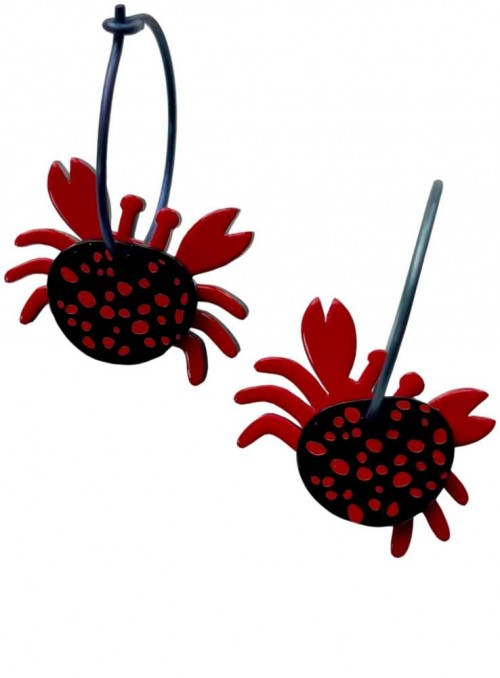 Earrings Acrylic Titanium Crabs