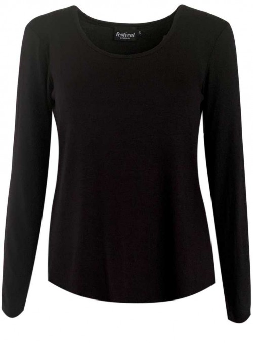 Bamboo T-shirt with long sleeves