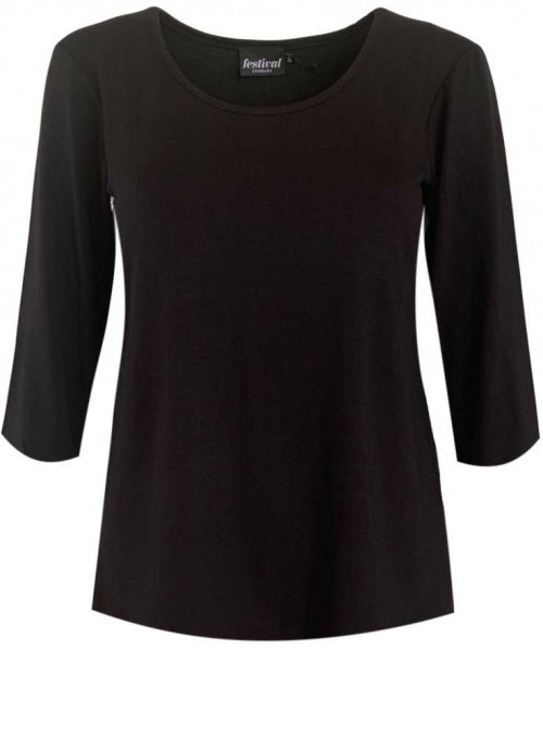 Bambus T-shirt with 3/4 sleeves