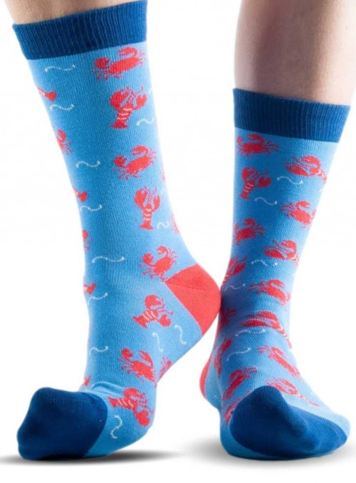 Bamboo Socks men and womens Blue Lobster from Doris & Dude