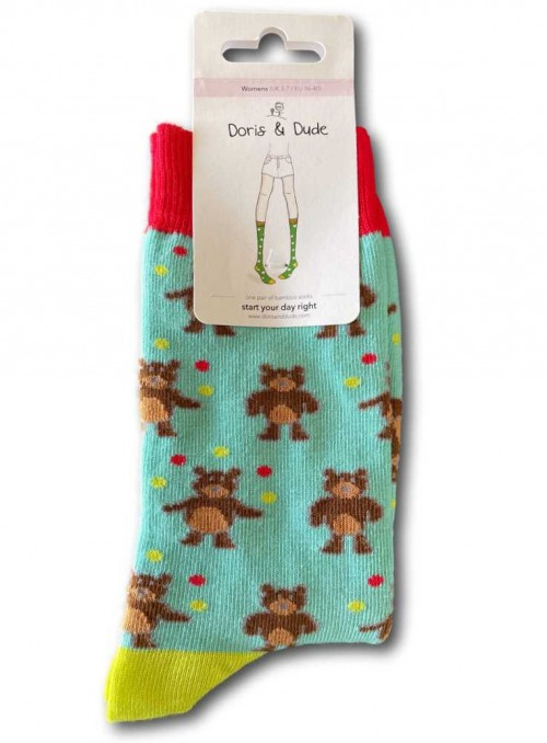 Bamboo Socks womens Joggeling Bears from Doris & Dude