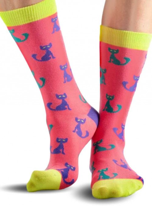 Bamboo Socks womens Red Cat from Doris & Dude