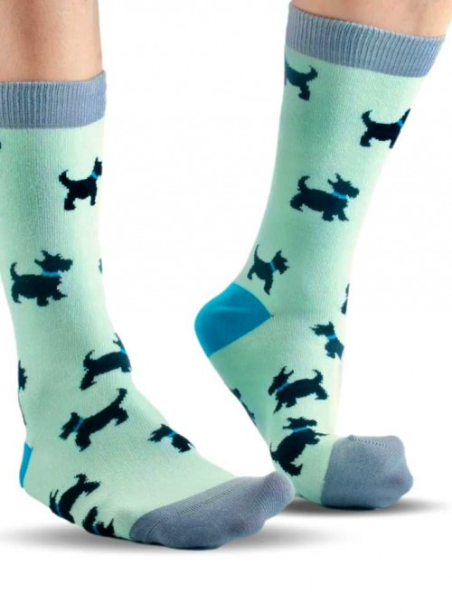 Bamboo Socks men and womens Mint Westie Scottie from Doris & Dude