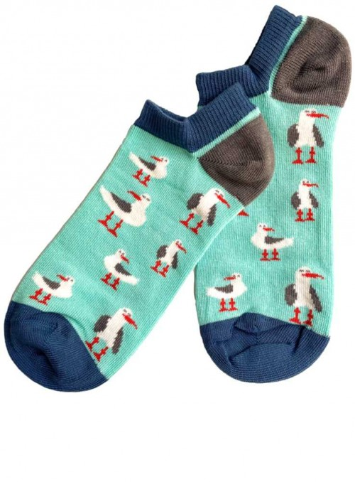 Bamboo Ankel Socks womens Green Seagull from Doris & Dude