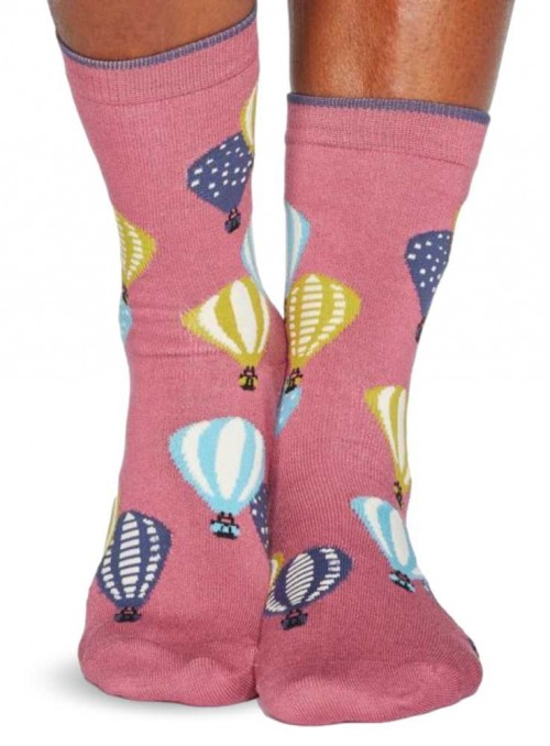 Bamboo Socks with GOTS certified cotton, Air Ballon from Thought